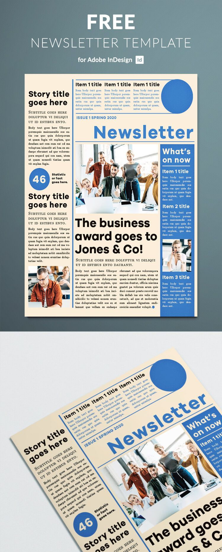 007 Stunning Adobe Indesign Newsletter Template Free Download Inspiration Full