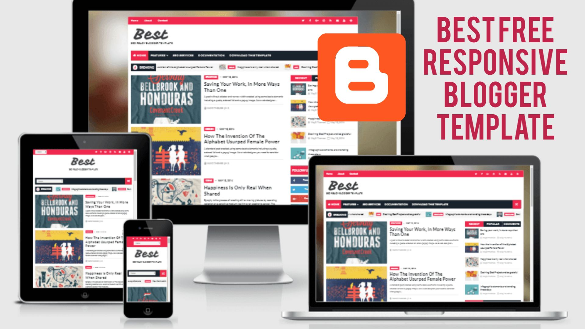 007 Stunning Best Free Blogger Template Image  Templates Responsive 2019 2020Full