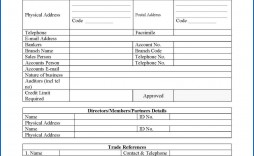 007 Stunning Busines Credit Application Form Template Free Idea  South Africa Australia