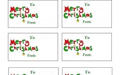 007 Stunning Christma Label Template Free Highest Clarity  Present Gift Tag Editable Mailing