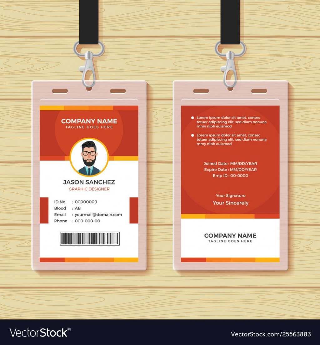 007 Stunning Employee Id Badge Template Concept  Avery Card Free Download WordLarge