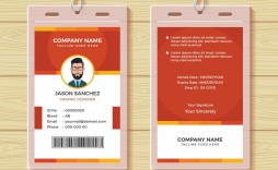 007 Stunning Employee Id Badge Template Concept  Avery Card Free Download Word