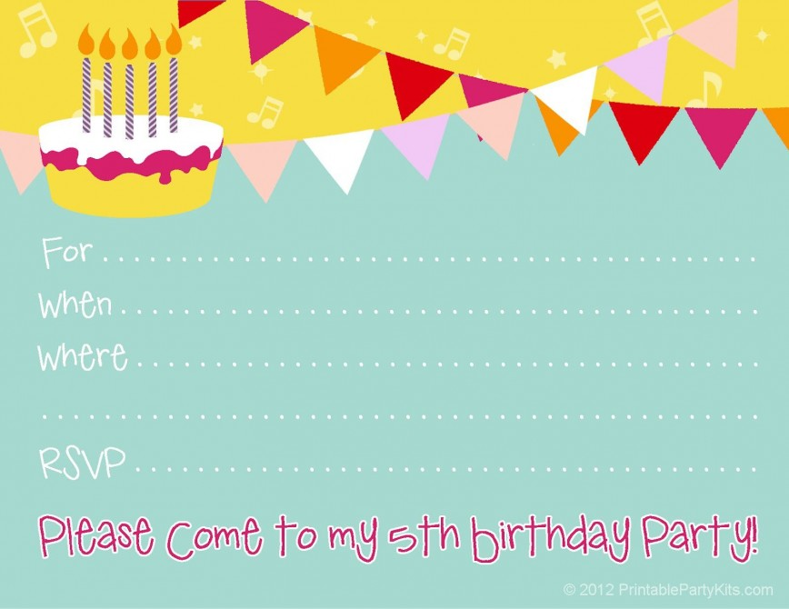 007 Stunning Free Birthday Party Invitation Template Example  Templates Word With Photo