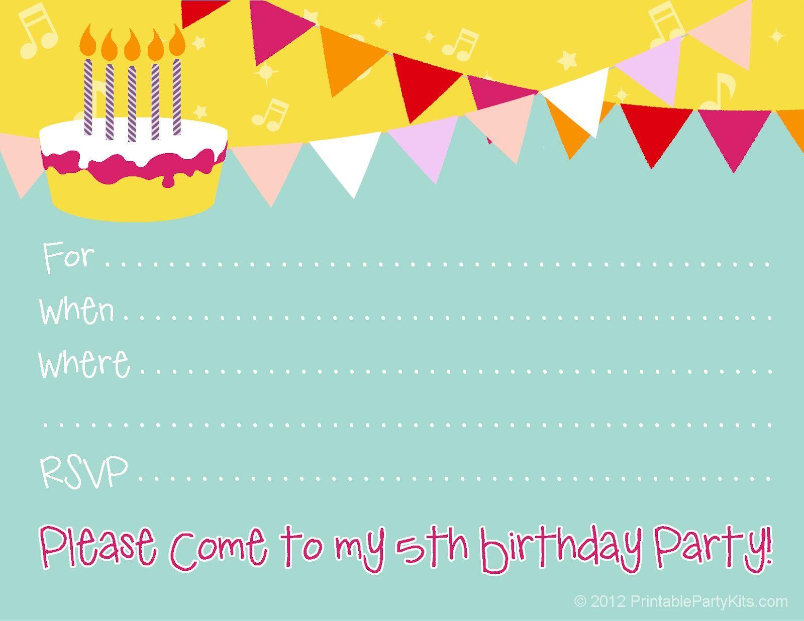 007 Stunning Free Birthday Party Invitation Template Example  Templates Printable 16th Australia UkFull