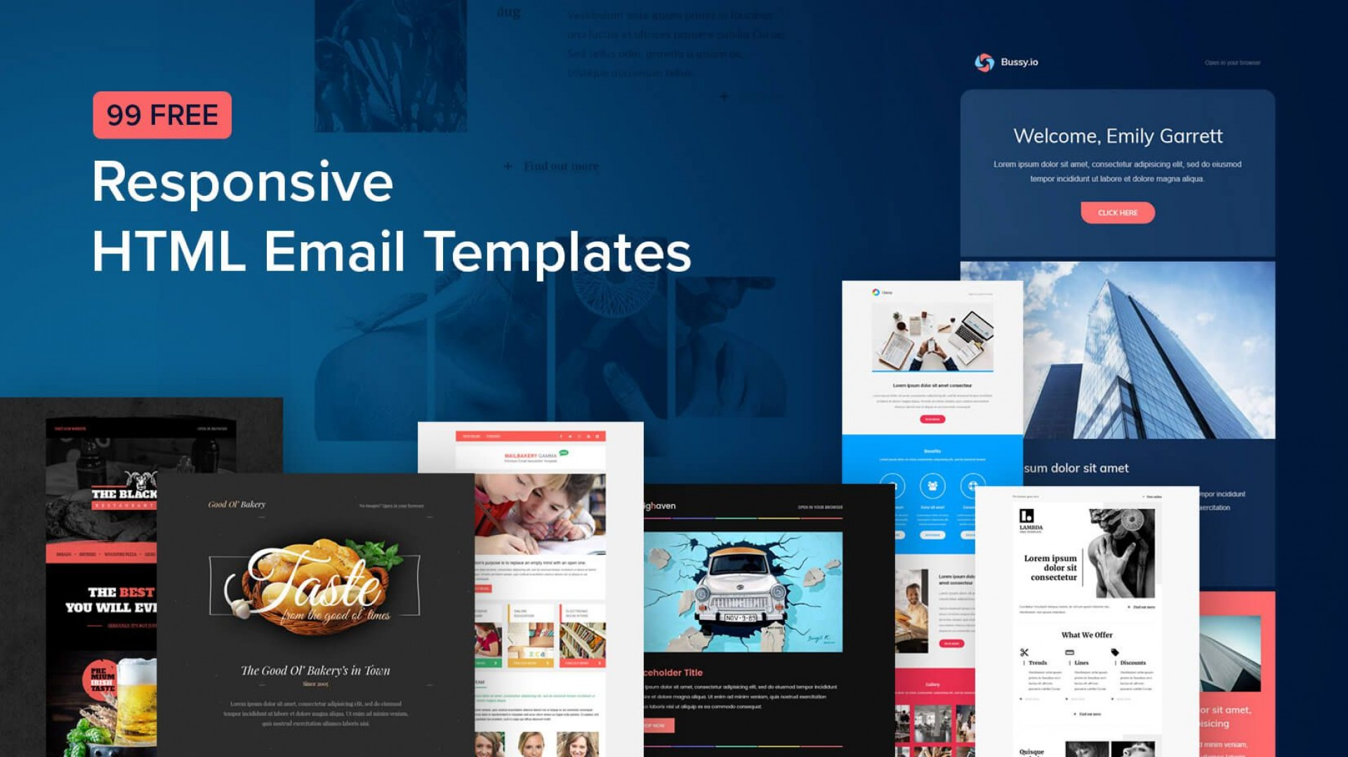 007 Stunning Free Email Newsletter Template Download Sample  Busines Psd1920