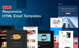 007 Stunning Free Email Newsletter Template Download Sample  Busines Psd
