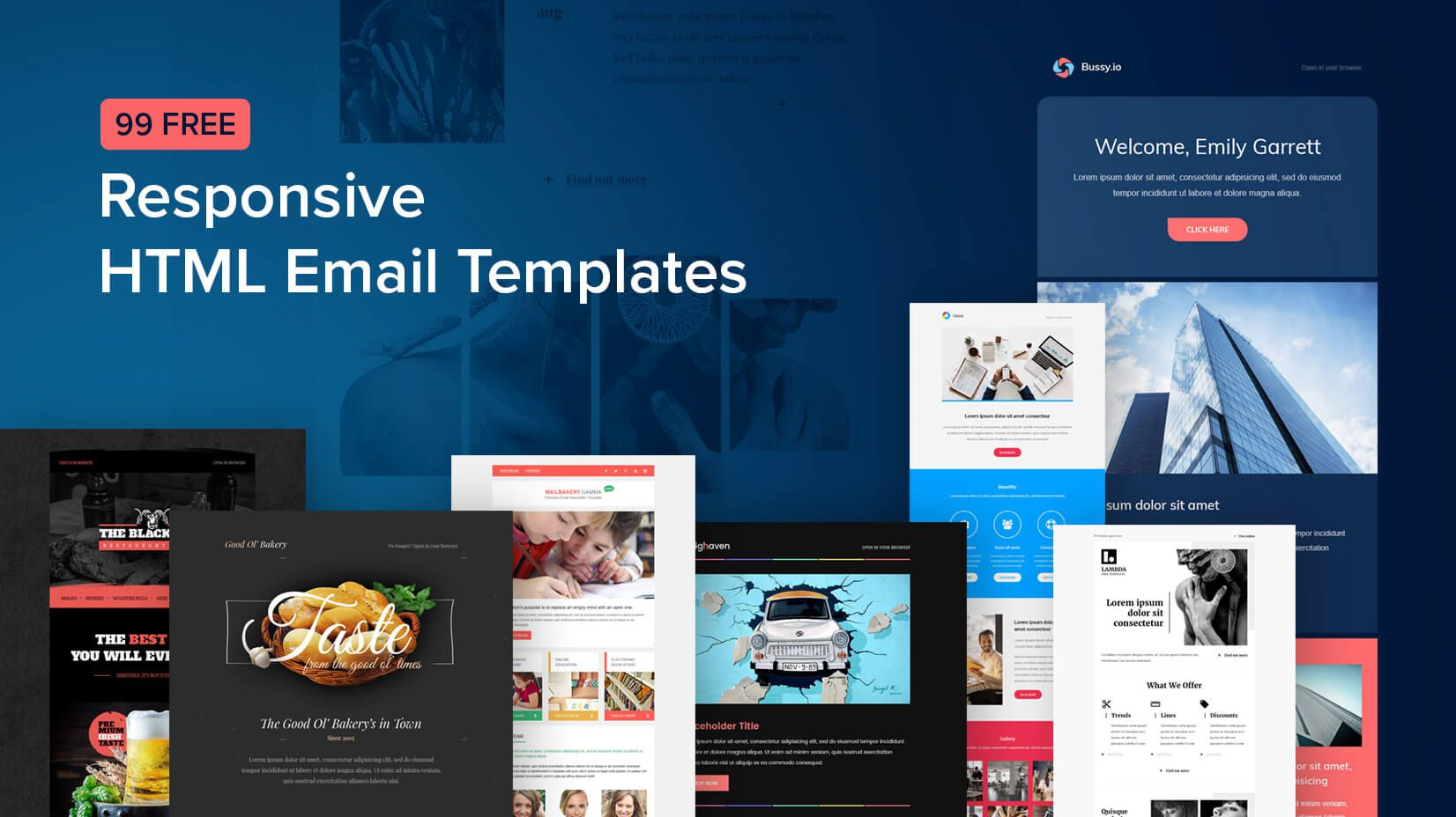 007 Stunning Free Email Newsletter Template Download Sample  Busines PsdFull
