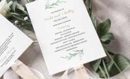 007 Stunning Free Printable Wedding Program Paddle Fan Template Picture  Templates