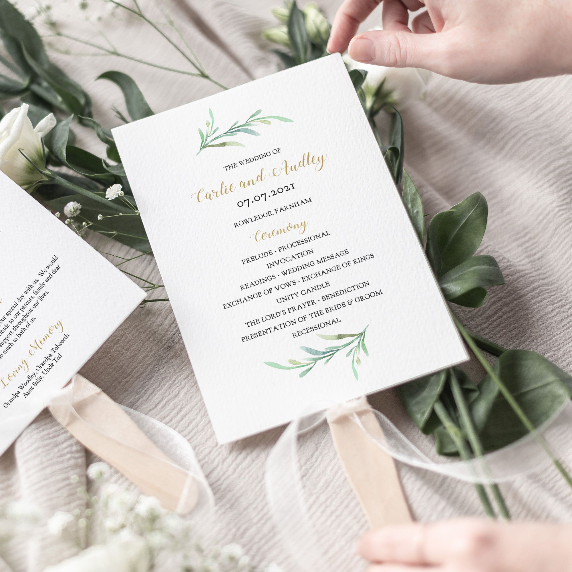 007 Stunning Free Printable Wedding Program Paddle Fan Template Picture  TemplatesFull