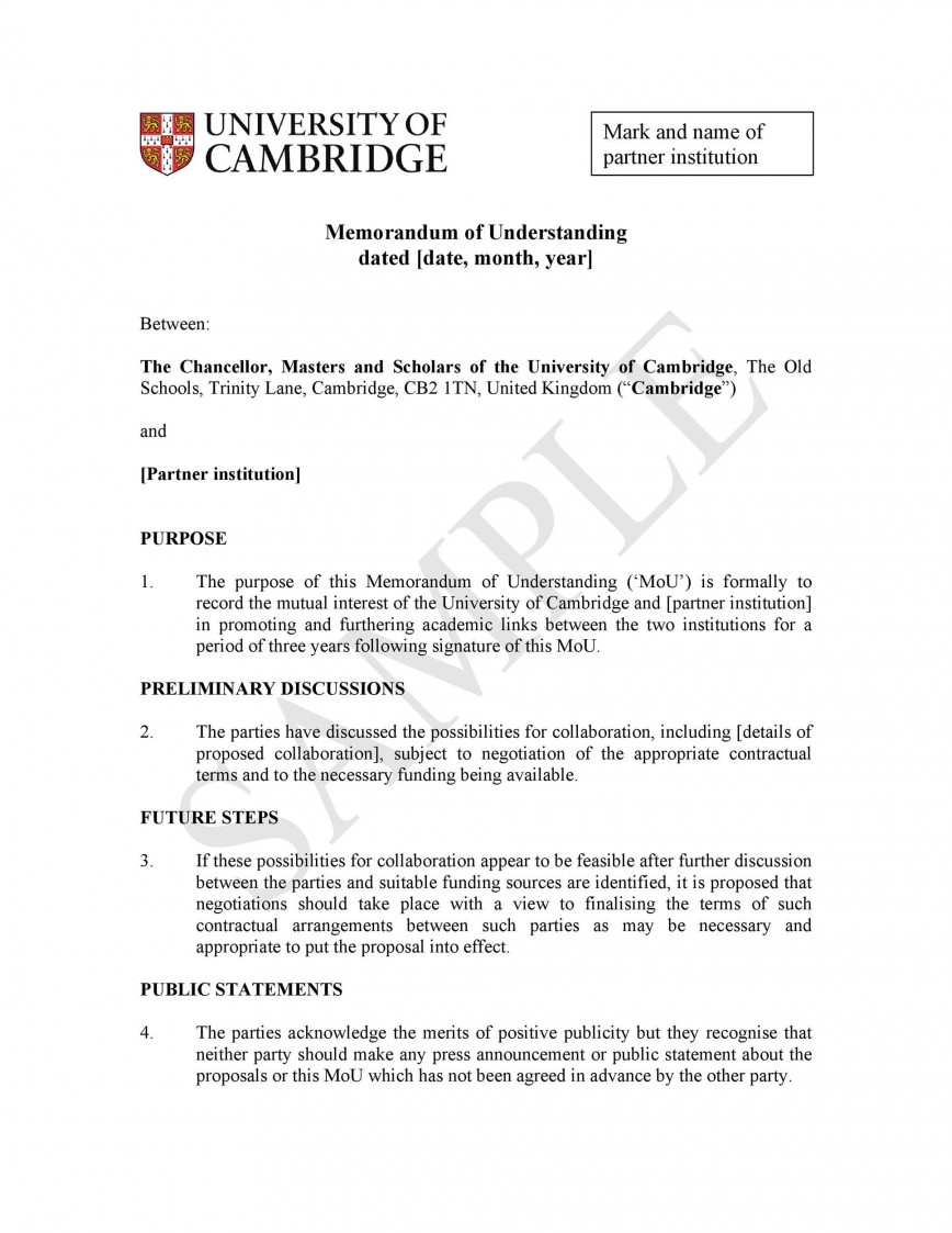 007 Stunning Letter Of Understanding Sample Example  Samples Agreement Template Word And