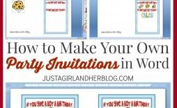 007 Stunning Microsoft Word Invitation Template 4 Per Page Concept