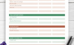 007 Stunning Simple Household Budget Template Idea  Excel Google Sheet Home Form