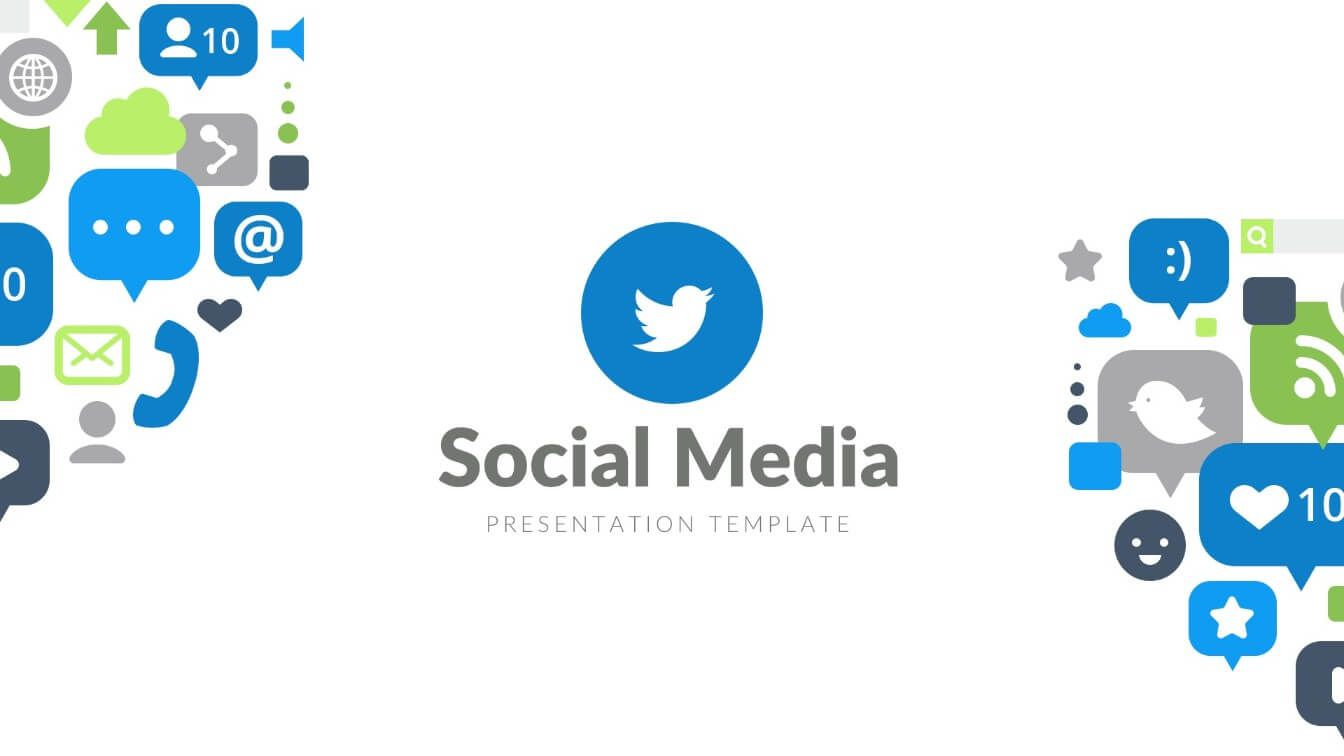 007 Stunning Social Media Ppt Template Free Photo  Download Report PowerpointFull