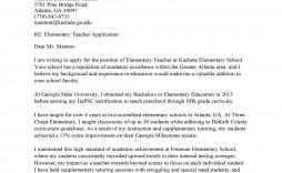 007 Stunning Teacher Cover Letter Template Image  Teaching Job