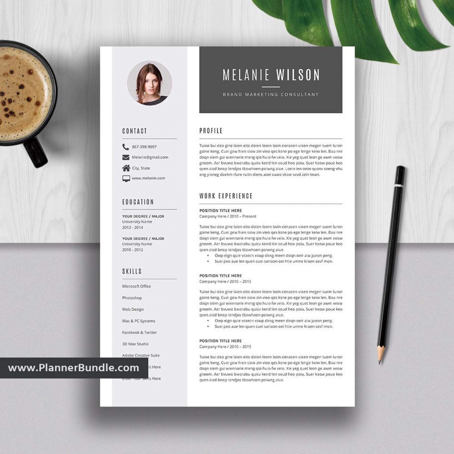 007 Stunning Word Resume Template 2020 Photo  Microsoft M1920