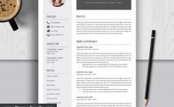 007 Stunning Word Resume Template 2020 Photo  Microsoft M