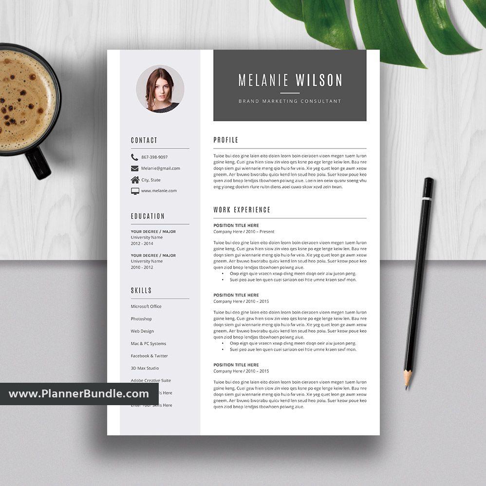 007 Stunning Word Resume Template 2020 Photo  Microsoft MFull