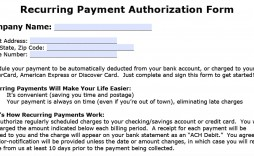 007 Stupendou Automatic Credit Card Payment Authorization Form Template Sample