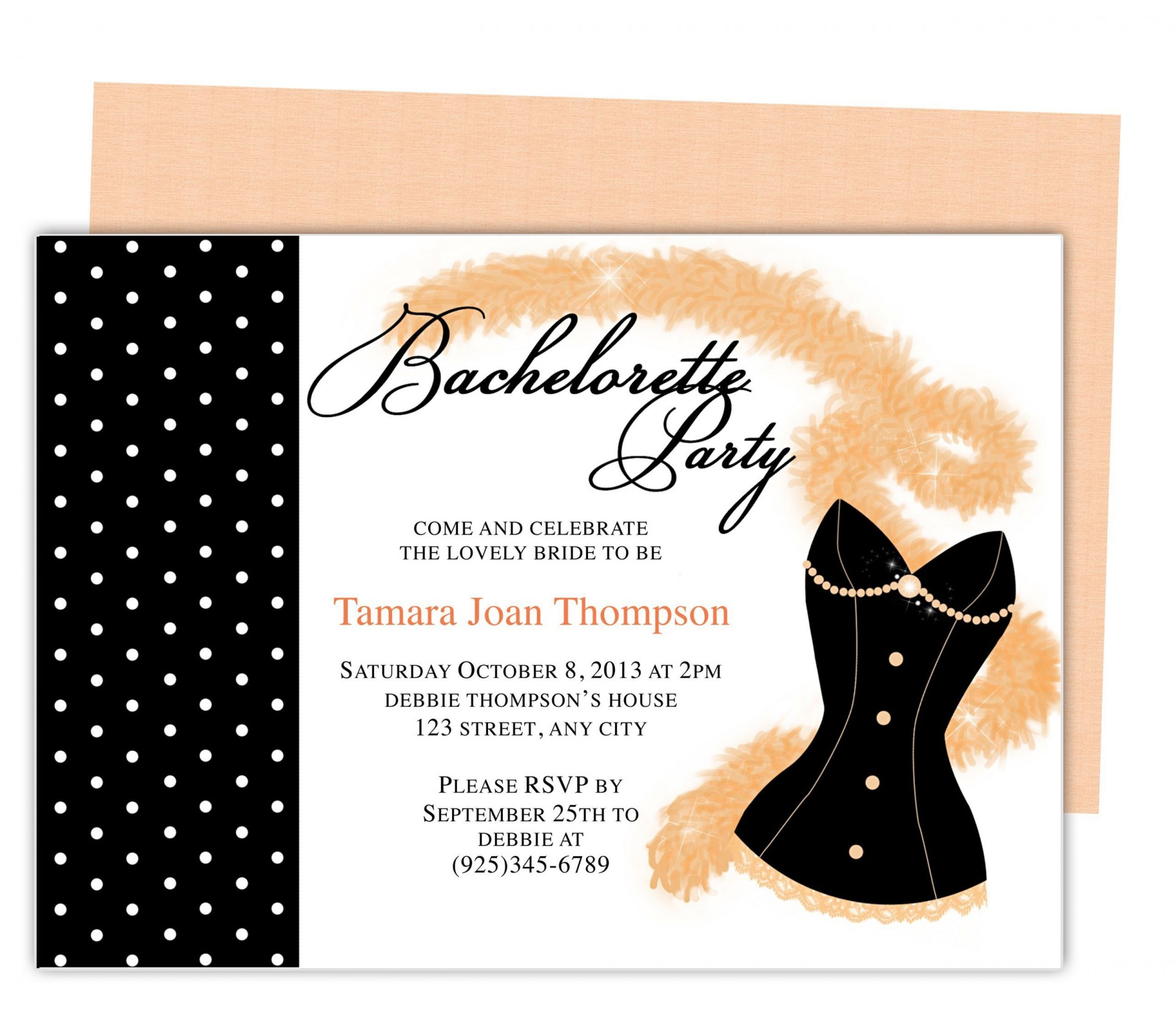 007 Stupendou Bachelorette Party Invitation Template Word Free Photo 1920