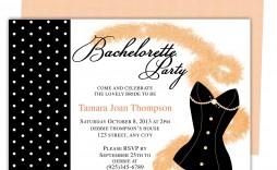 007 Stupendou Bachelorette Party Invitation Template Word Free Photo