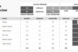 007 Stupendou Blood Glucose Spreadsheet Template Image  Tracking