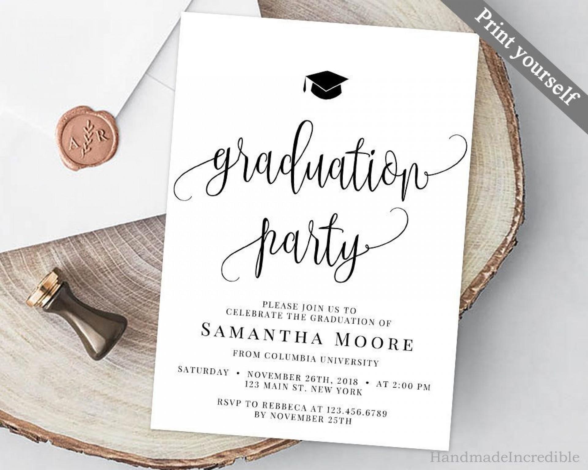 007 Stupendou College Graduation Party Invitation Template Inspiration  Templates1920
