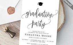 007 Stupendou College Graduation Party Invitation Template Inspiration  Templates