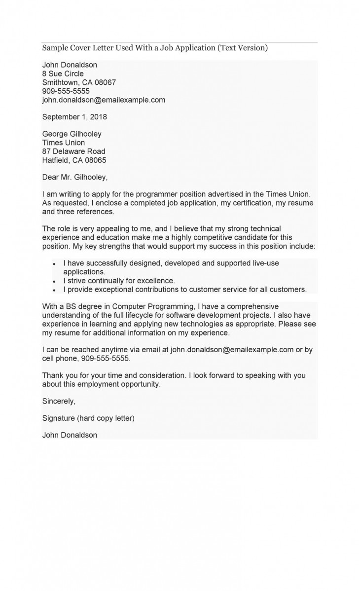 007 Stupendou Cover Letter Writing Sample Idea  Example For Content Job Resume728
