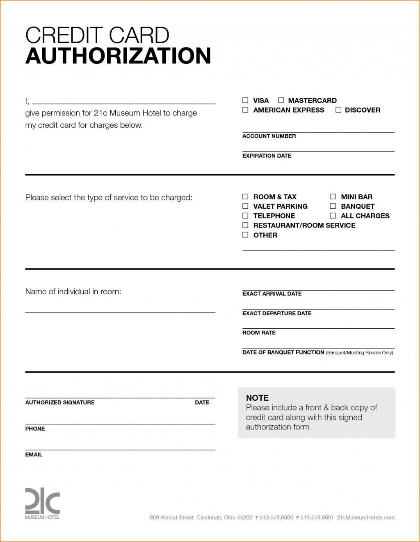 007 Stupendou Credit Card Template Word Sample  Authorization Hotel Form SlipLarge