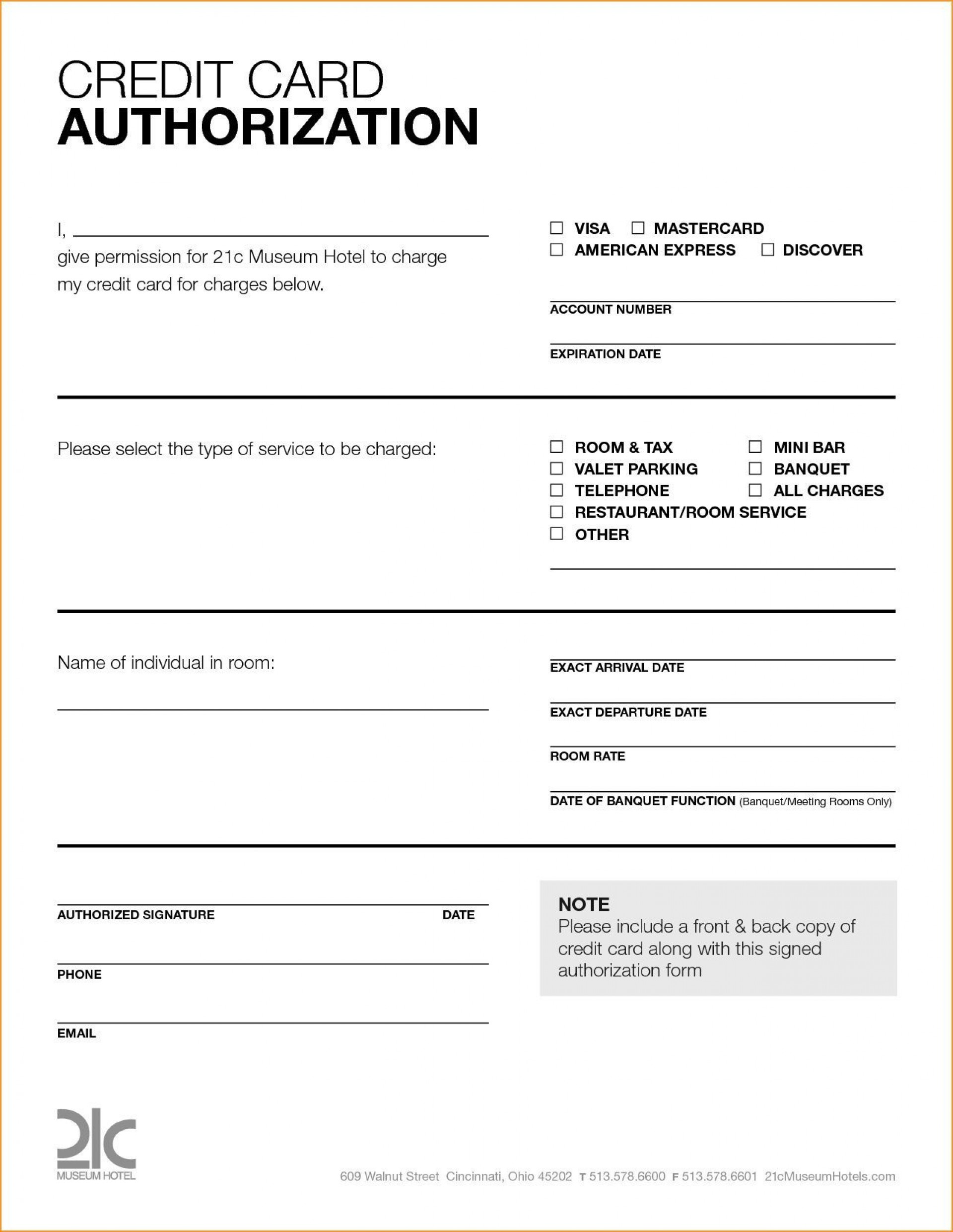 007 Stupendou Credit Card Template Word Sample  Authorization Hotel Form Slip1920