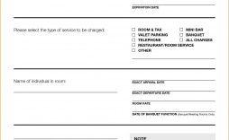 007 Stupendou Credit Card Template Word Sample  Authorization Hotel Form Slip