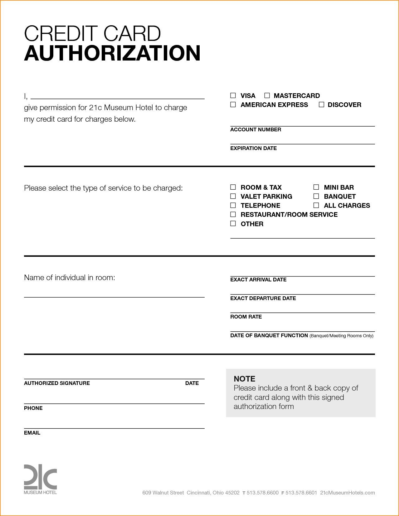 007 Stupendou Credit Card Template Word Sample  Authorization Hotel Form SlipFull