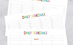 007 Stupendou Daily Schedule Template Printable Inspiration