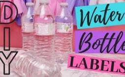 007 Stupendou Diy Water Bottle Label Template Free Photo