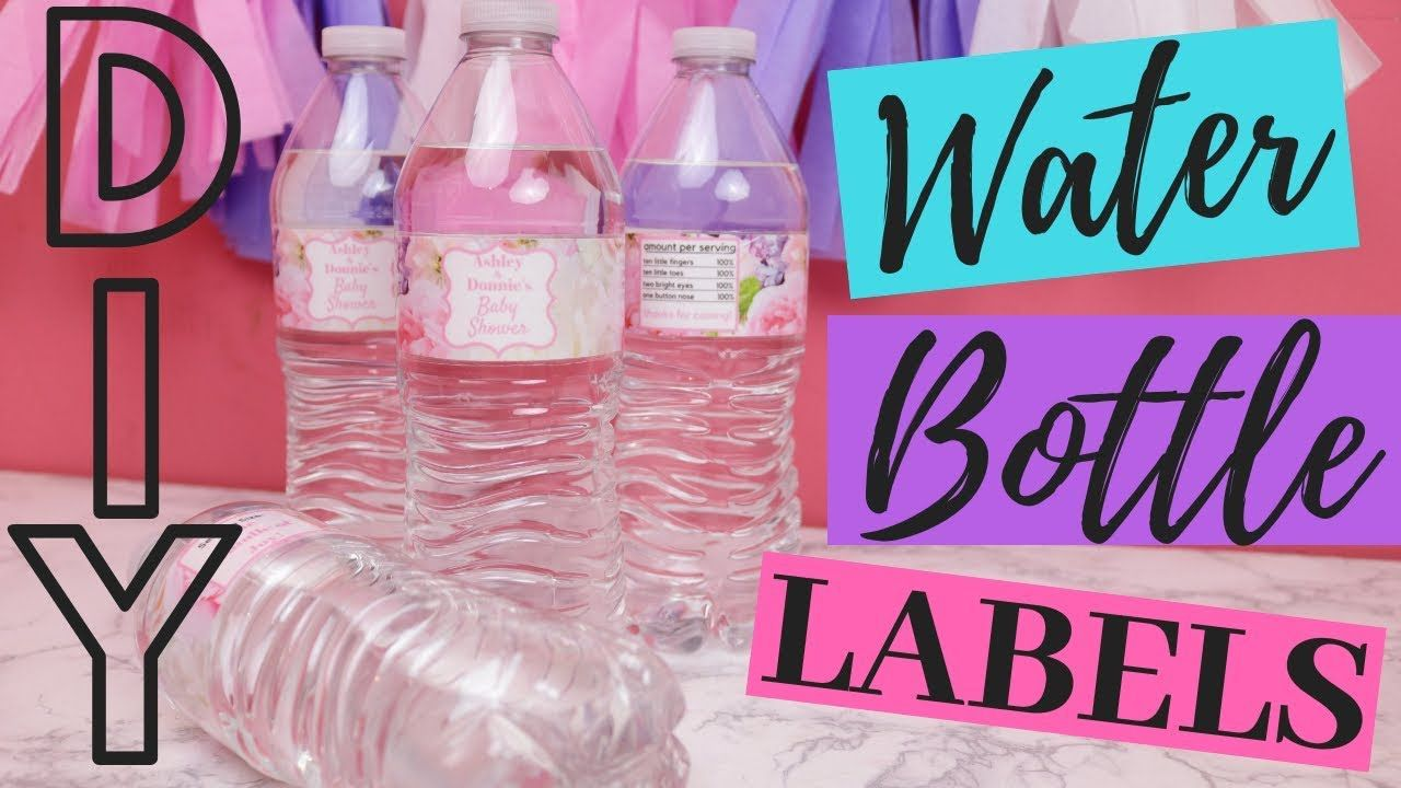 007 Stupendou Diy Water Bottle Label Template Free Photo Full
