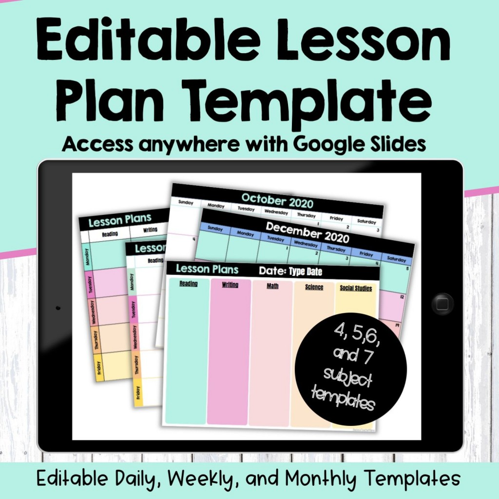 007 Stupendou Editable Lesson Plan Template Middle School Example Large