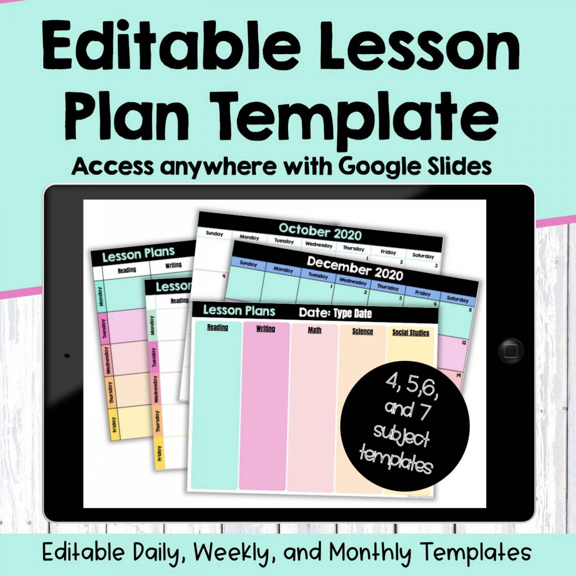 007 Stupendou Editable Lesson Plan Template Middle School Example 1920