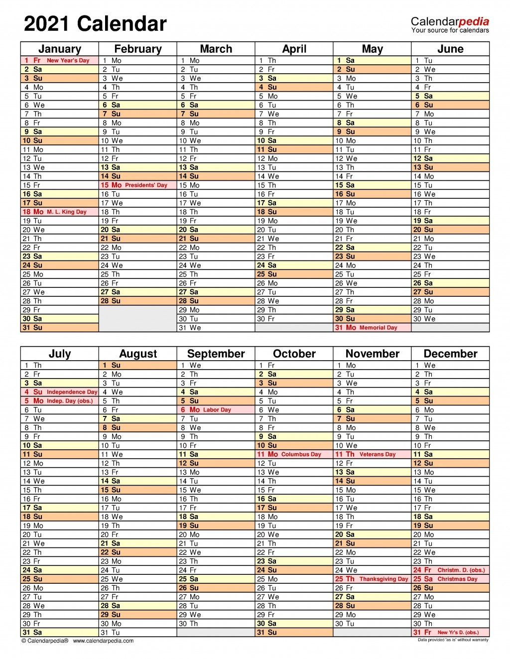 007 Stupendou Excel Calendar 2021 Template Highest Clarity  Yearly MicrosoftLarge