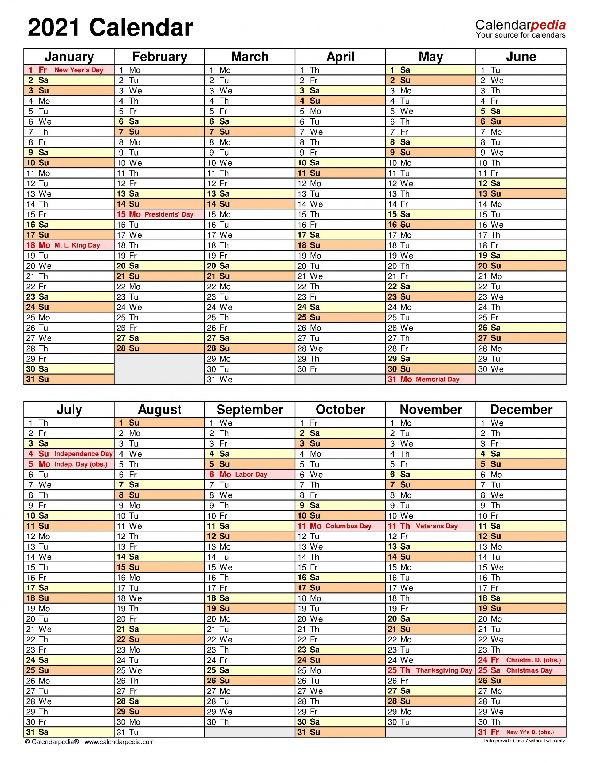 007 Stupendou Excel Calendar 2021 Template Highest Clarity  Yearly Microsoft1920