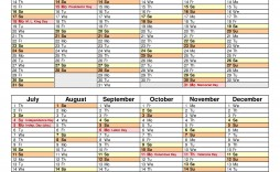 007 Stupendou Excel Calendar 2021 Template Highest Clarity  Yearly Microsoft