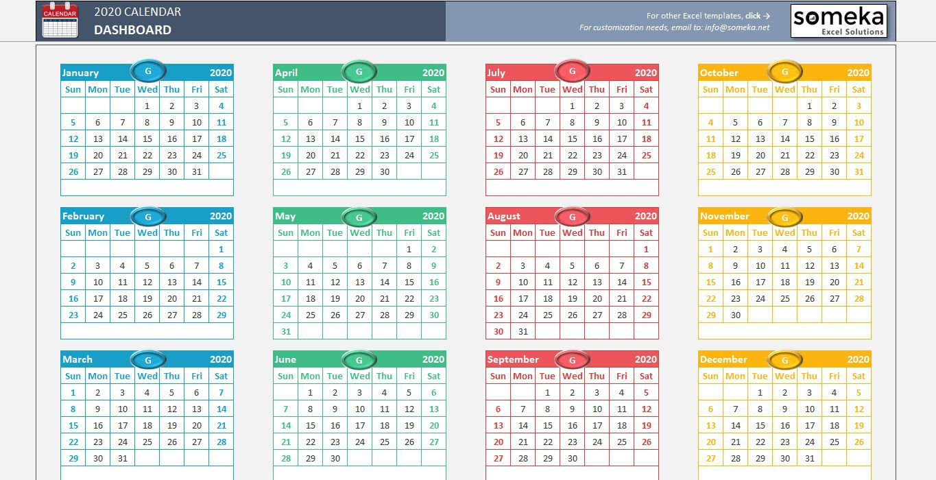 007 Stupendou Free Calendar Template Excel High Def  Monthly 2020 Perpetual 2019Full