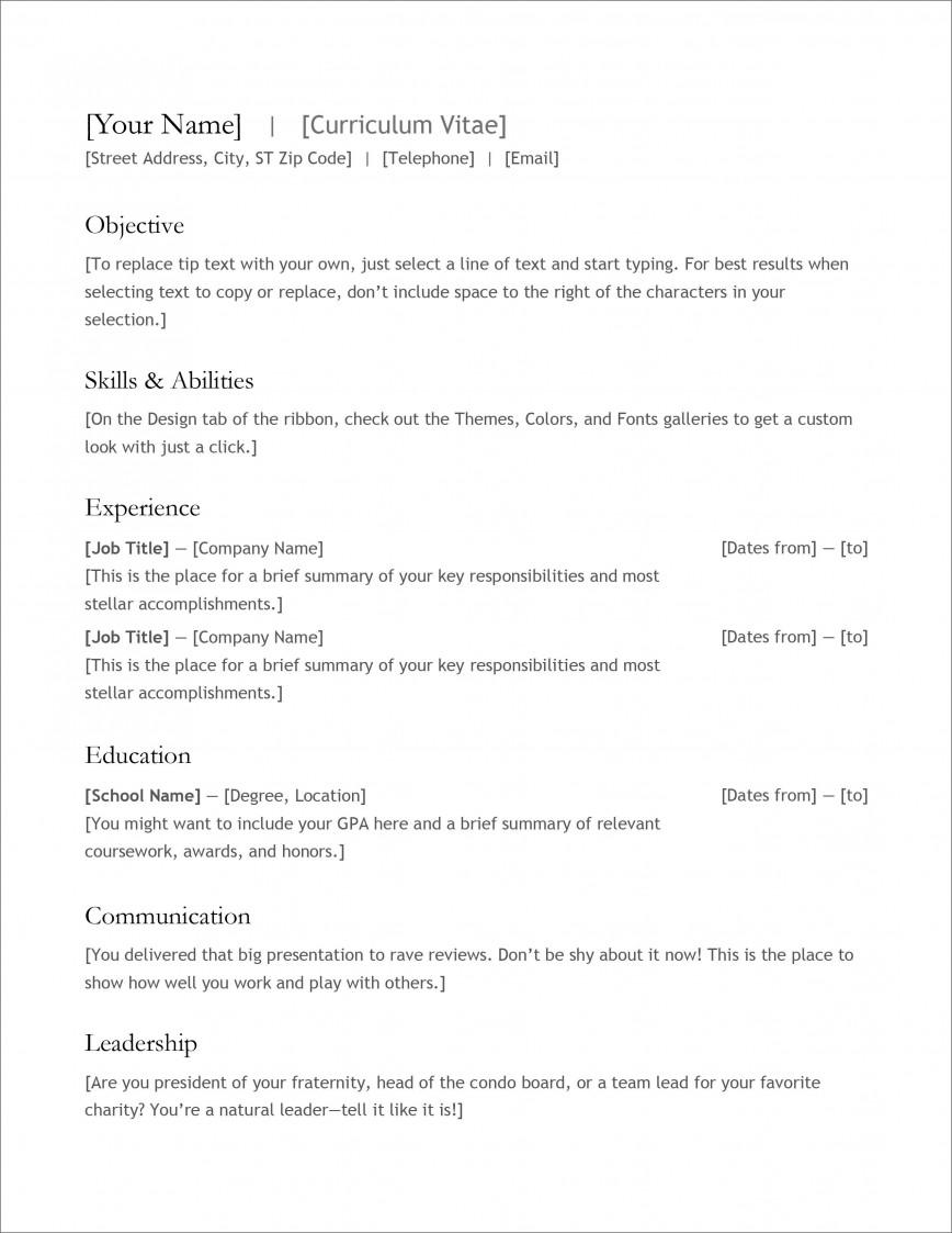 007 Stupendou Free High School Resume Template Microsoft Word Resolution 868