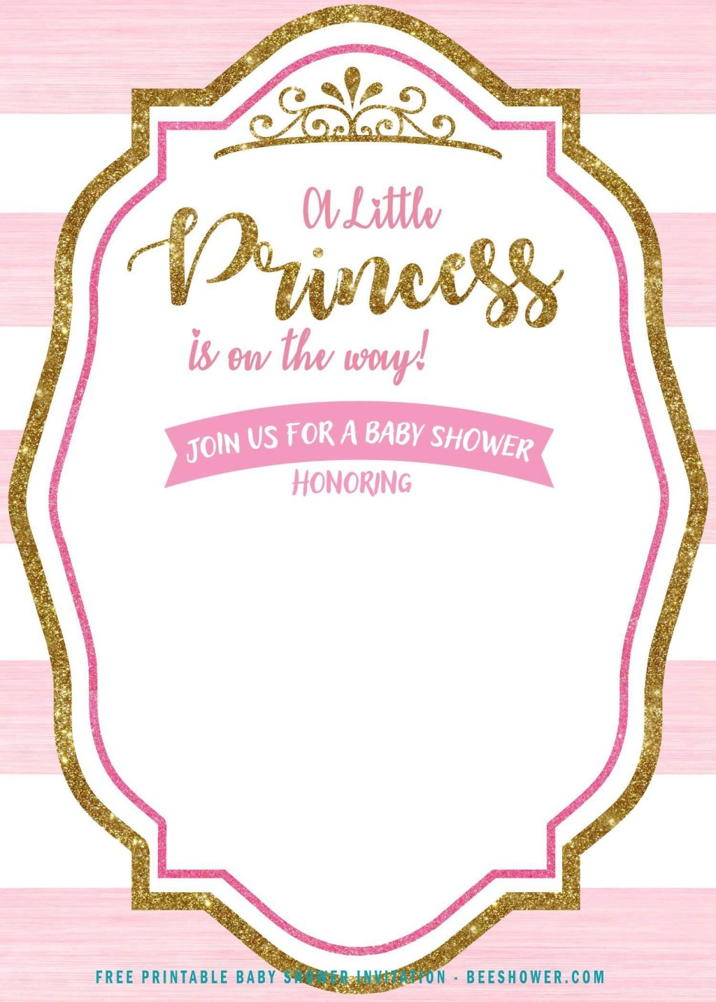 007 Stupendou Free Princes Baby Shower Invitation Template For Word Picture Large
