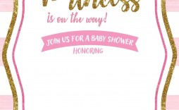 007 Stupendou Free Princes Baby Shower Invitation Template For Word Picture