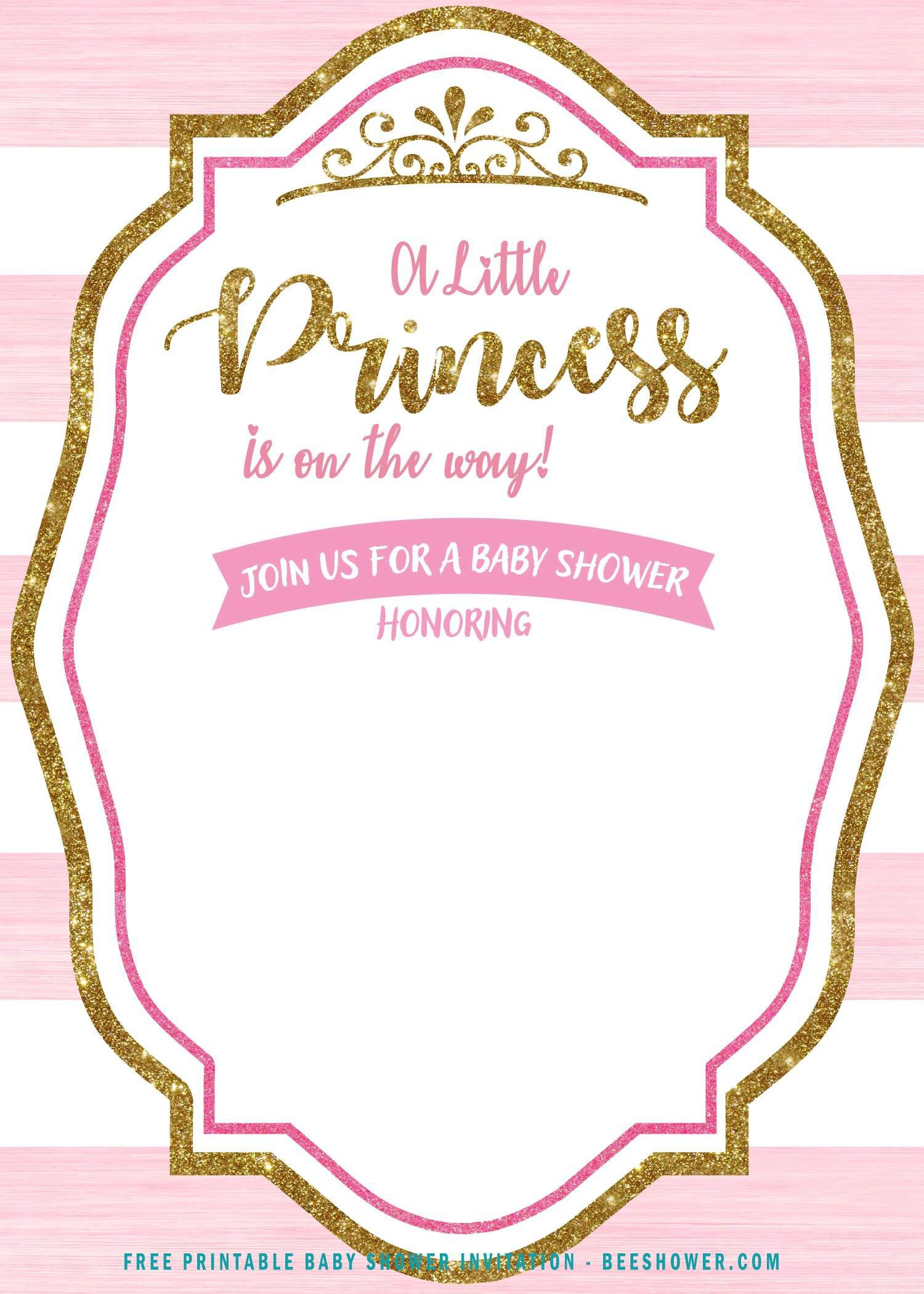 007 Stupendou Free Princes Baby Shower Invitation Template For Word Picture Full