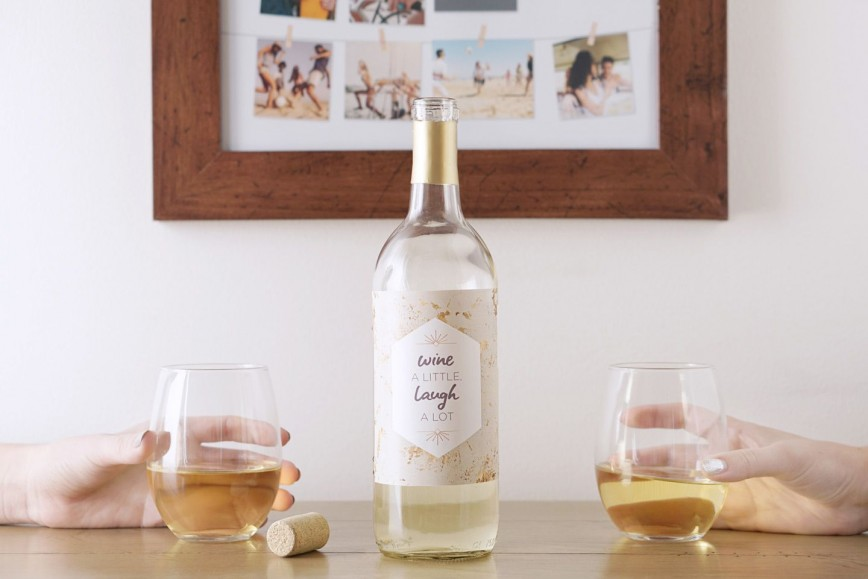 007 Stupendou Free Wine Label Template Image  Psd Mini Bottle