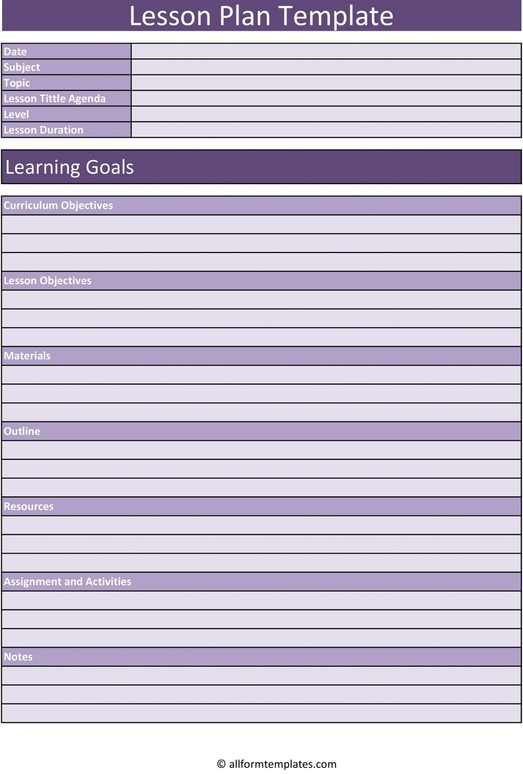 007 Stupendou Lesson Plan Template Excel Free Highest Clarity Large