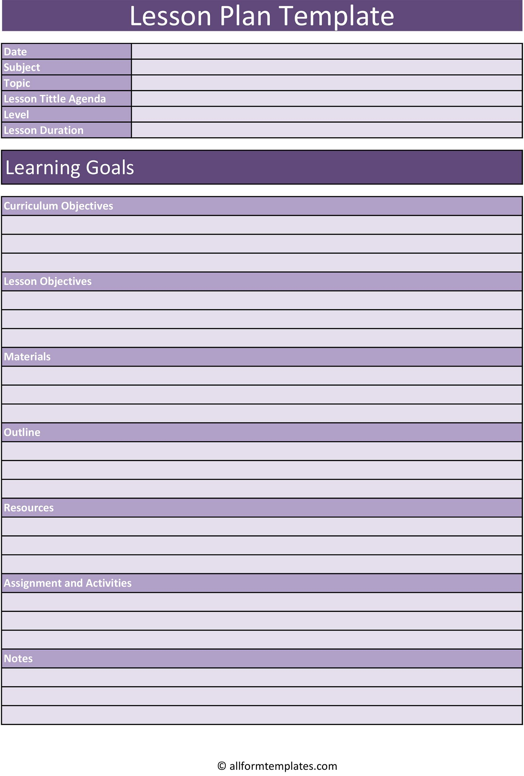 007 Stupendou Lesson Plan Template Excel Free Highest Clarity Full