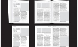 007 Stupendou Magazine Layout Template Free Download Word Concept