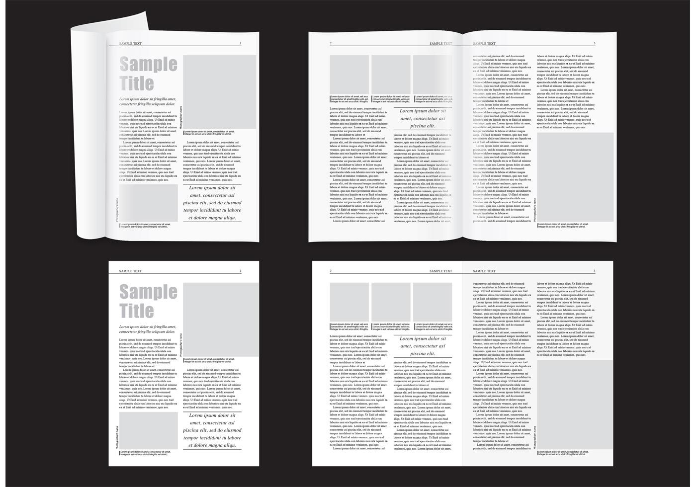 007 Stupendou Magazine Layout Template Free Download Word Concept Full